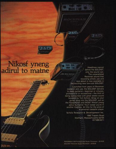 1984 ROCKMAN SOLOIST X100 Professional Studio Processor VINTAGE ADVERTISEMENT
