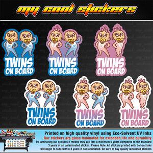 Twins-On-Board-Vinyl-Sticker-Decal-for-car-ute-4x4-Cute-Boy-Girl-versions