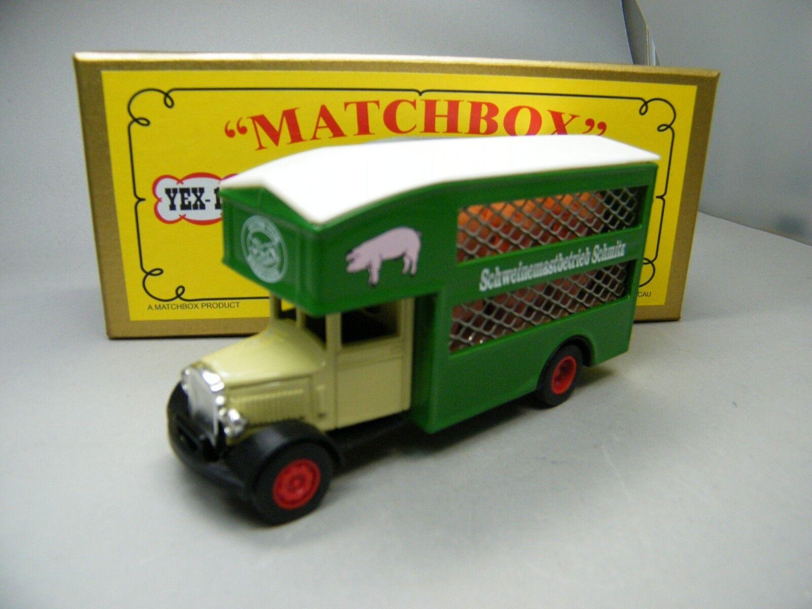 Matchbox moy c2 yex-10 morris cerdos Transporter completamente transformación raramente OVP k01