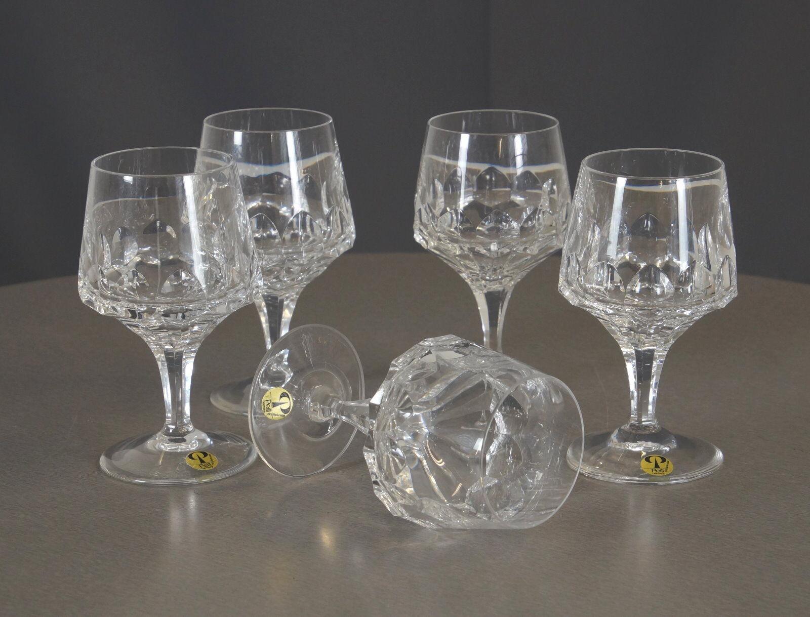 5 Peill + Putzler Bleikristall Brandy Weinbrand Glas Mercator Messina 60er Jahre