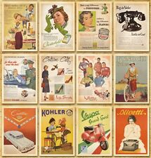 Vintage Postcards Advertising Album Poster Slogan History Post Cards