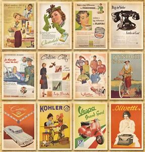 Lot-of-32-Vintage-Postcards-Advertising-Album-Poster-Slogan-History-Post-Cards