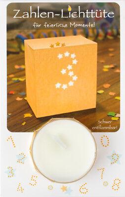Geschenk-Idee Geburtstag Happy Birthday Tisch-Deko Teelicht Zahlen-Lichttüte 8