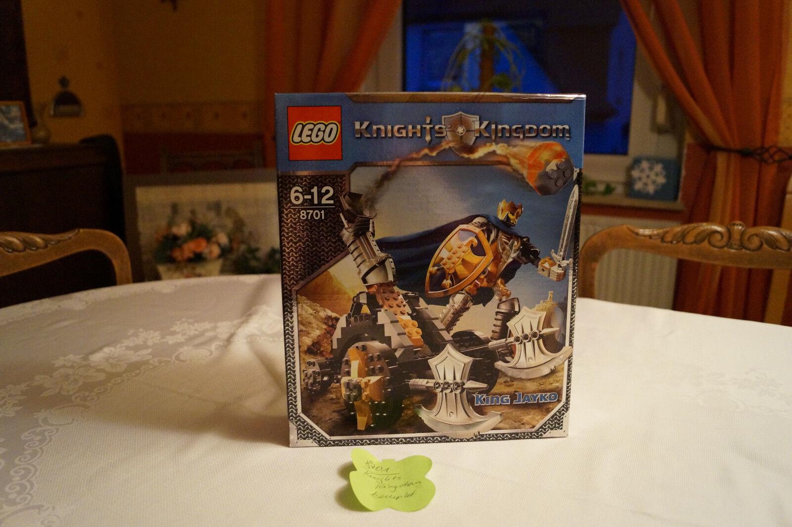 LEGO 8701 Knights Kingdom  King Jayko mit Katapult  ab 6 Jahre Bauplan