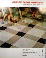 Uvalde Rock AZROCK VINYL ASBESTOS (Vina-Lux) & Asphalt Tile Catalog 1962