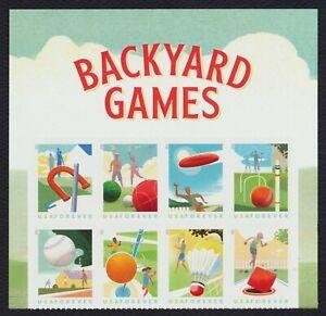 #5634b Backyard Juegos, Se-Tenant Bloque Con Encabezado, Nuevo Cualquier 5=