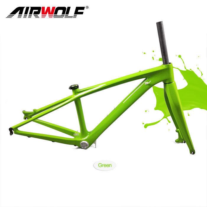 Cochebon marco MTB marco de bicicleta 26er 14  3k fibra conjunto de marcos de horquilla