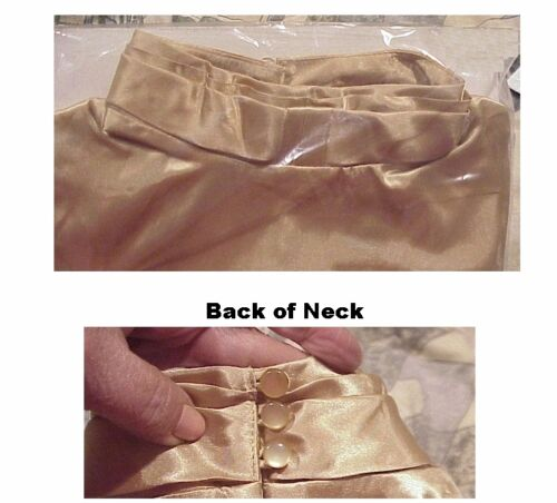 Women/'s gorgeous gold turtleneck blouse top shirt brand new with tags $59 price