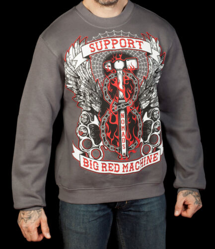 Hells Angels Support 81 Pullover Nomads Italy grau NEU