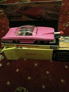 Dinky-Toys-No-100-Fab-1-Thunderbirds-Lady-Penelopes-Pink-Rolls-Royce-amp-Repr-Box