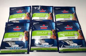 Lot of 6 Bissell Stomp 'N Go Pet Stain Lifting Pads + Oxy for Carpet/Upholstery