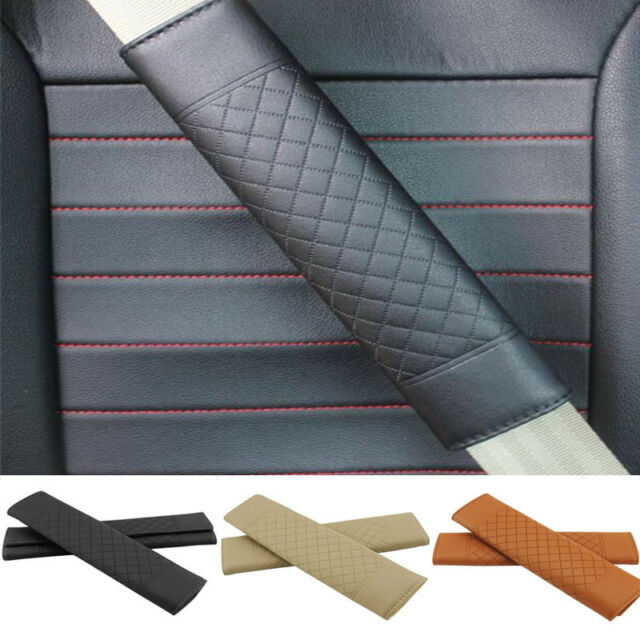 Pair Black Seat Belt Shoulder Pads Cushions Cover For Audi A4 A6 A8 S4 S6 TT R8
