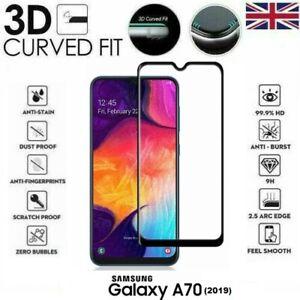 Per-Samsung-Galaxy-A70-2019-3D-Vetro-Temperato-Protezione-Schermo-LCD-Nero