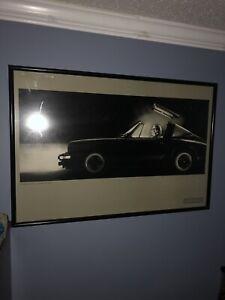 STEVE-STEIGMAN-Porsche-Targa-The-Weaver-Gallery-Printed-in-France-RARE-ORIGINAL