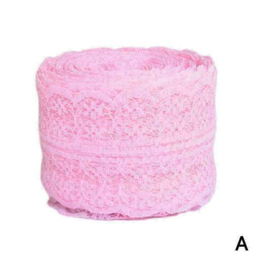 Schöne bilaterale Handwerksband bestickt Net Lace Trim 10 Yard 4,5 cm Gift O6X1