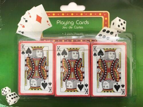 PLASTIC Coated Carte da Gioco 3 confezioni