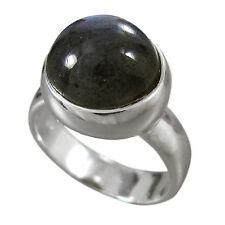 Schmuck-Michel Damen Ring Silber 925 Labradorit 12 mm Größe 58 (R3)