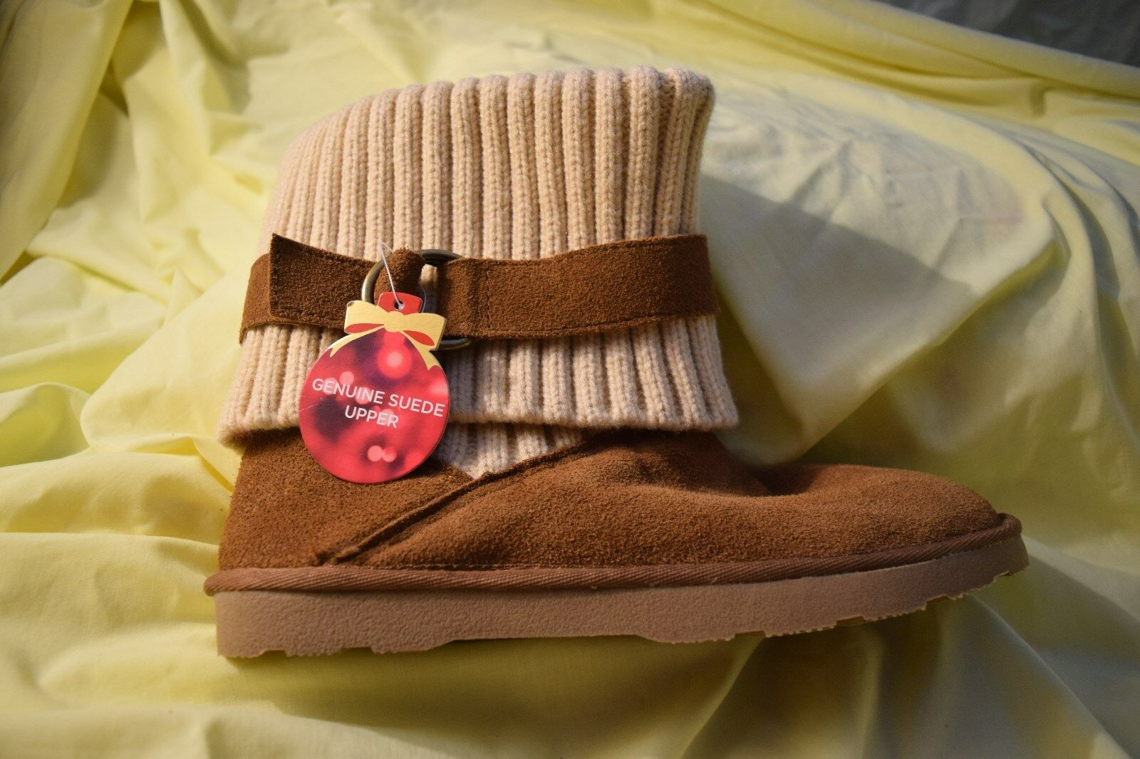 NEW Women's Size 8 Sonoma Mia Brown Genuine Suede Fully Lined Ankle Boot .99