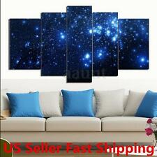 5Pcs Star Sky Space Canvas Picture Print Paintings Home Wall Art Decor Framed