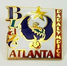 Atlanta Summer Paralympics Olympic Memorabilia Paralympic Mascot Blaze Pin