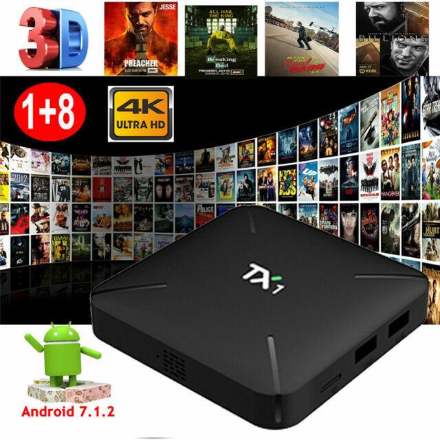 MXQPRO Quad core Amlogic S905W Android 7.1.2 Smart TV BOX 1G