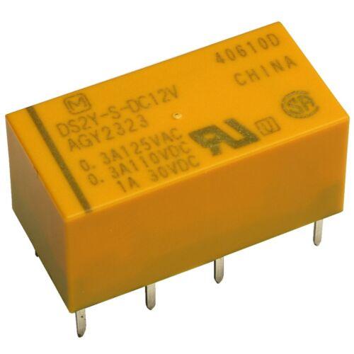 Panasonic DS2Y-S-12V Relais 12V DC 2xUM 2A 720R 220VDC 250VAC Relay Print 854969