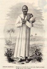 GRAVURE 1893 ENGRAVING BAGAMOYO MISSION SELIMAN CUISINIER COOK TANZANIE TANZANIA