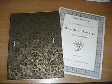 BIBLIOTHEQUE D.M.C. L'ART CHRETIEN EN EGYPTE MOTIFS DE BRODERIE COPTE DILLMONT I