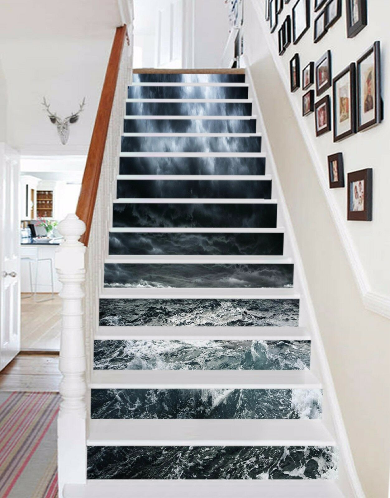 3D Cloudy Sea 308 Stairs Risers Decoration Photo Mural Vinyl Decal Wallpaper US
