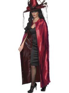 REVERSIBLE-CAPE-MENS-LADIES-RED-AND-BLACK-DRACULA-VAMPIRE-FANCY-DRESS-CAPE