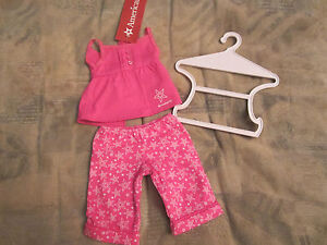 3d423b2e92f04 Details about American Girl Sweet Dreams Pajamas PJS w/hanger NEW IN BAG  3pc lot SOLDOUT