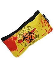 DARKSIDE CLOTHING Zombie Outbreak YELLOW Pencil/Make-Up/Cosmetic Case/Bag/blood