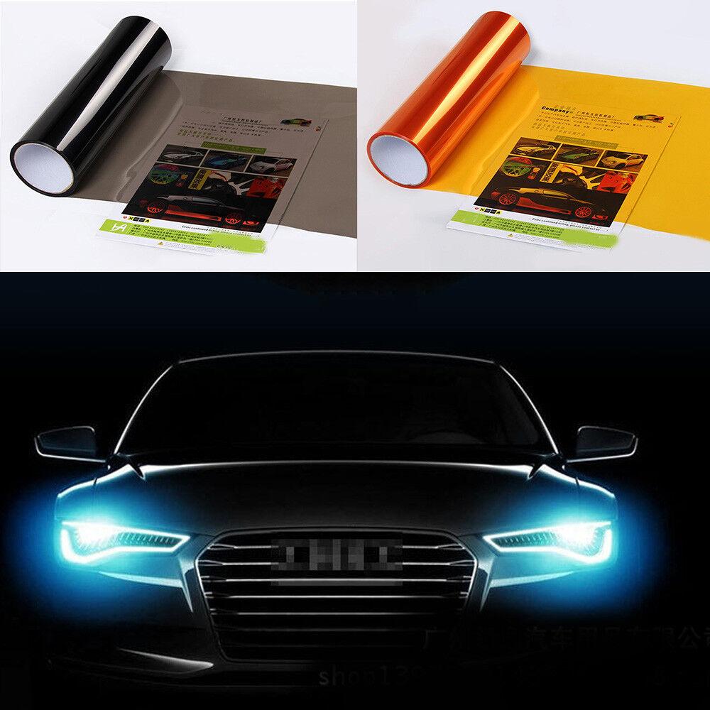 Car Headlight Taillight Fog Light Sticker Tint Protector Film Vinyl Wrap Decals 5