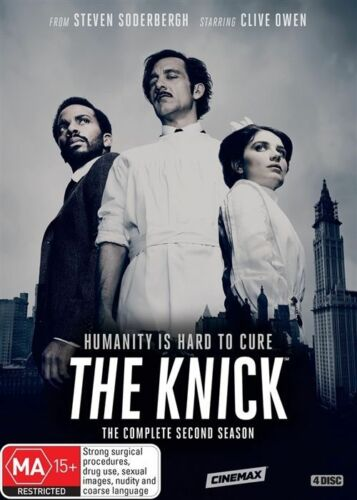 1 of 1 - The Knick : Season 2 (DVD, 2016, 4-Disc Set) Genuine & unSealed (D115/D149/D164)