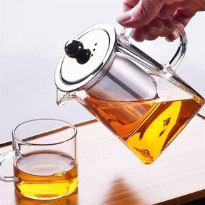 Filtre Théière en verre L'infuseur en acier inoxydable amovible FR