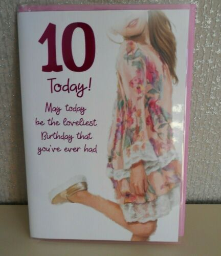 Happy Birthday Card 10th Happy Birthday Card Dressy dressing up card 10 today