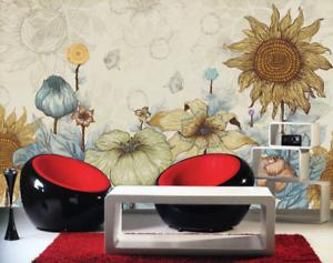 3D Sunflower Flowers 8 Wall Paper Murals Wall Print Wall Wallpaper Mural AU Kyra