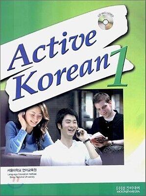Active Korean 1 Korean Language Book w/ Audio CD Hangul Seoul SNU Free Ship