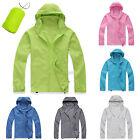Men Women Outdoor Sport Rain Coat Waterproof Windproof Jacket Hooded Lightweight