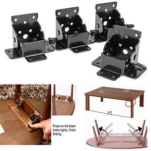 2//4PCS Iron Locking Folding Bracket Folding Table Leg Hinges Home Hardware