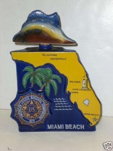 Miami beach 1974 Commemorative Bottle American Legion