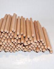 6 x 100 mm ca Holzdübel Bastel Holzstäbe Profi Riffeldübel 150 Stück Buche
