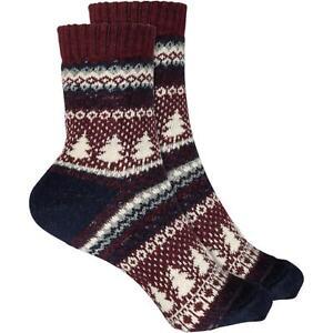 Cosey Dicke Socken Xmas-tree Dunkelrot 33-40 2 Paar Baumwolle Atmungsaktiv Weich SchüTtelfrost Und Schmerzen
