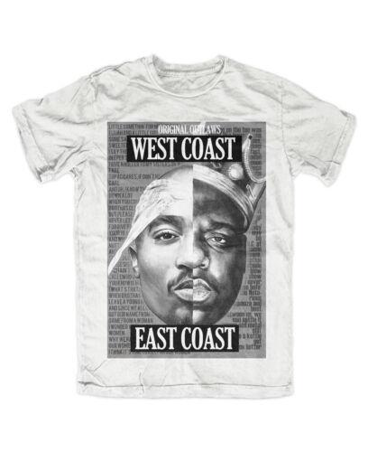 2PAC BIGGIE OUTLAWZ T-Shirt weiß  Kult,Tupac,NOTORIOUS B.I.G,eastcoast,westcoast