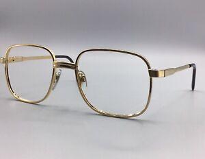 Luxottica-occhiale-vintage-Eyewear-frame-lunettes-eyeglasses-gold-laminated-18K