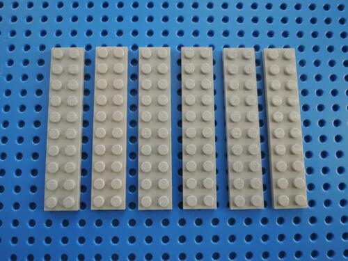 Lego 6 x Platte Bauplatte flach 3832 neu hellgrau  2x10