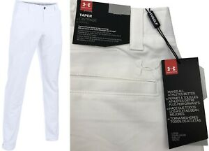 Under-Armour-UA-Matchplay-Tapered-Golf-Trousers-RRP-65-ALL-SIZES-White