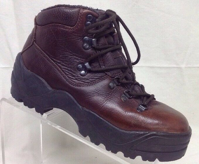 BASS Mens Brown Leather Hiking Boots Insulated Size 8 T419            W4