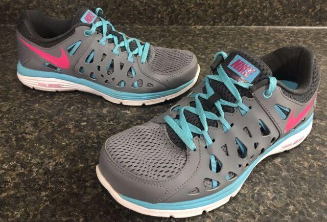 Estar satisfecho Gasto artículo  Nike Kids Girls Dual Fusion Run 2 Shoes Size 5 Youth Blue Grey for sale  online   eBay