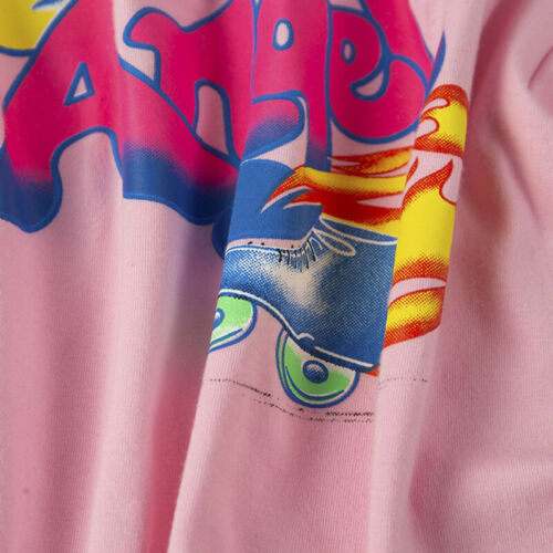 Women Tee Top Angel Letter Print Slim Crop Tops Casual T Shirt Streetwear Ta x!